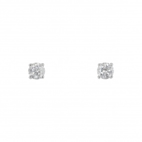 White Gold Diamond Stud Earrings 0.90ct TDW